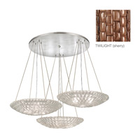 Fine Art Lamps Constructivism 9 Light Pendant in Hand Rubbed Bronze 848640-4ST