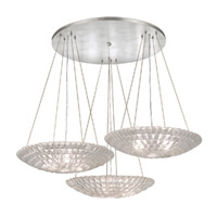 Fine Art Lamps Constructivism 9 Light Pendant in Silver Leaf 848640ST