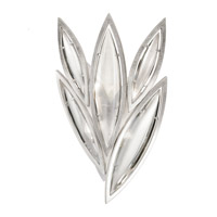 Fine Art Lamps Marquise 4 Light Wall Sconce in Platinized Silver Leaf 849050-11ST