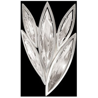 Marquise 4 Light 13 inch Platinized Silver Leaf Wall Sconce Wall Light