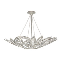Marquise 13 Light 44 inch Platinized Silver Leaf Pendant Ceiling Light
