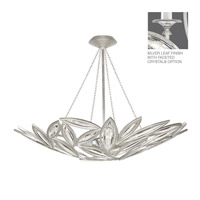 Fine Art Lamps Marquise 13 Light Pendant in Platinized Silver Leaf 849440-12ST
