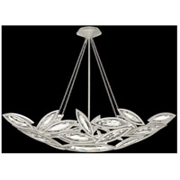 Marquise 7 Light 50 inch Platinized Silver Leaf Pendant Ceiling Light