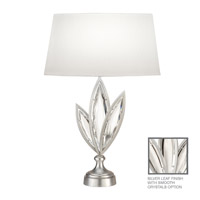 Fine Art Lamps Marquise 1 Light Table Lamp in Platinized Silver Leaf 849810-11ST