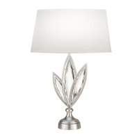 Fine Art Lamps Marquise 1 Light Table Lamp in Platinized Silver Leaf 849810-12ST