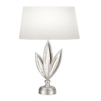Fine Art Lamps Marquise 1 Light Table Lamp in Platinized Silver Leaf 850010-11ST