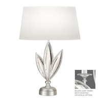 Marquise 26 inch 100 watt Platinized Silver Leaf Table Lamp Portable Light