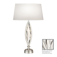 Fine Art Lamps Marquise 1 Light Table Lamp in Platinized Silver Leaf 850210-11ST