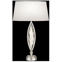 Marquise 29 inch 100 watt Platinized Silver Leaf Table Lamp Portable Light