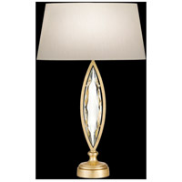 Marquise 29 inch 100 watt Florentine Brushed Gold Leaf Table Lamp Portable Light