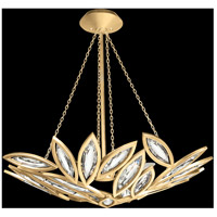 Marquise 8 Light 32 inch Florentine Brushed Gold Leaf Pendant Ceiling Light