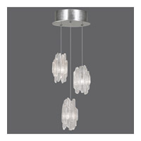 Fine Art Lamps Natural Inspirations 3 Light Pendant in Platinized Silver Leaf 852340-101ST