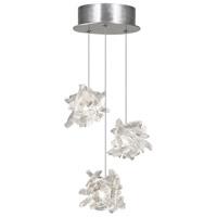 Fine Art Lamps 852340-102ST Natural Inspirations 3 Light 9 inch Silver Pendant Ceiling Light