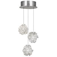Fine Art Lamps 852340-104LD Natural Inspirations LED 3 Light 9 inch Silver Pendant Ceiling Light