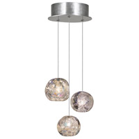 Fine Art Lamps 852340-106LD Natural Inspirations Led 3 Light 9 inch Silver Drop Light Ceiling Light