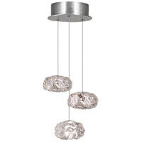 Fine Art Lamps 852340-11LD Natural Inspirations LED 3 Light 9 inch Silver Pendant Ceiling Light