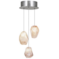 Fine Art Lamps Natural Inspirations 3 Light Drop Light in Silver Leaf 852340-14ST