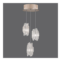 Fine Art Lamps Natural Inspirations 3 Light Pendant in Gold Toned Silver Leaf 852340-201ST