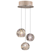 Fine Art Lamps 852340-206LD Natural Inspirations Led 3 Light 9 inch Gold Drop Light Ceiling Light