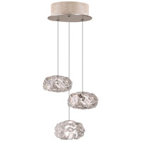 Fine Art Lamps Natural Inspirations 3 Light Drop Light in Gold-Toned Silver Leaf 852340-21ST
