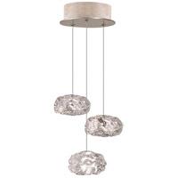 Fine Art Lamps 852340-21LD Natural Inspirations Led 3 Light 9 inch Gold Drop Light Ceiling Light