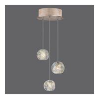 Fine Art Lamps 852340-206ST Natural Inspirations 3 Light 9 inch Gold Drop Light Ceiling Light