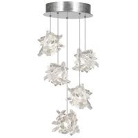 Fine Art Lamps 852440-102ST Natural Inspirations 5 Light 12 inch Silver Drop Light Ceiling Light
