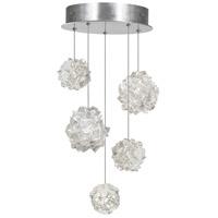 Fine Art Lamps 852440-105ST Natural Inspirations 5 Light 12 inch Silver Pendant Ceiling Light