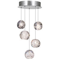 Fine Art Lamps 852440-106LD Natural Inspirations Led 5 Light 12 inch Silver Drop Light Ceiling Light