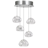 Fine Art Lamps 852440-107LD Natural Inspirations Led 5 Light 12 inch Silver Drop Light Ceiling Light