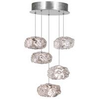 Fine Art Lamps 852440-11LD Natural Inspirations Led 5 Light 12 inch Silver Drop Light Ceiling Light