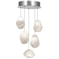 Fine Art Lamps Natural Inspirations 5 Light Drop Light in Silver Leaf 852440-13ST