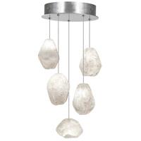 Fine Art Lamps 852440-13LD Natural Inspirations Led 5 Light 12 inch Silver Drop Light Ceiling Light