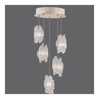 Fine Art Lamps Natural Inspirations 5 Light Pendant in Gold Toned Silver Leaf 852440-201ST