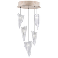 Fine Art Lamps 852440-208LD Natural Inspirations Led 5 Light 12 inch Gold Drop Light Ceiling Light