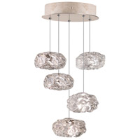 Fine Art Lamps Natural Inspirations 5 Light Drop Light in Gold-Toned Silver Leaf 852440-21ST