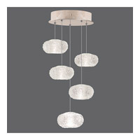 Fine Art Lamps Natural Inspirations 5 Light Drop Light in Gold-Toned Silver Leaf 852440-22ST