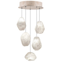 Natural Inspirations 5 Light 12 inch Gold-Toned Silver Leaf Drop Light Ceiling Light