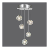 Fine Art Lamps 852440-106ST Natural Inspirations 5 Light 12 inch Silver Drop Light Ceiling Light