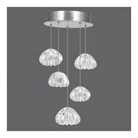 Fine Art Lamps 852440-107ST Natural Inspirations 5 Light 12 inch Silver Drop Light Ceiling Light