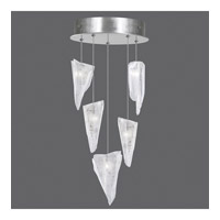 Fine Art Lamps 852440-108ST Natural Inspirations 5 Light 12 inch Silver Drop Light Ceiling Light