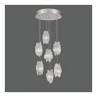 Fine Art Lamps Natural Inspirations 7 Light Pendant in Platinized Silver Leaf 852640-101ST