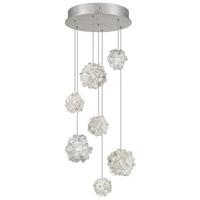 Fine Art Lamps 852640-105ST Natural Inspirations 7 Light 14 inch Silver Pendant Ceiling Light