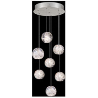 Fine Art Lamps 852640-106LD Natural Inspirations 7 Light 14 inch Silver Pendant Ceiling Light