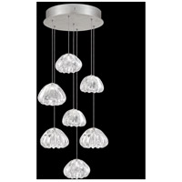 Fine Art Lamps 852640-107LD Natural Inspirations 7 Light 14 inch Silver Pendant Ceiling Light