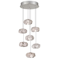 Fine Art Lamps Natural Inspirations 7 Light Drop Light in Platinized Silver Leaf 852640-11ST