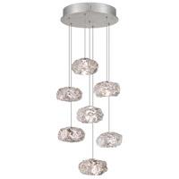 Fine Art Lamps 852640-11ST Natural Inspirations 7 Light 14 inch Silver Drop Light Ceiling Light