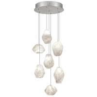 Fine Art Lamps Natural Inspirations 7 Light Drop Light in Silver Leaf 852640-13ST