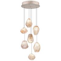 Fine Art Lamps 852640-14ST Natural Inspirations 7 Light 14 inch Silver Drop Light Ceiling Light