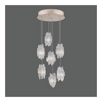 Fine Art Lamps Natural Inspirations 7 Light Pendant in Gold Toned Silver Leaf 852640-201ST